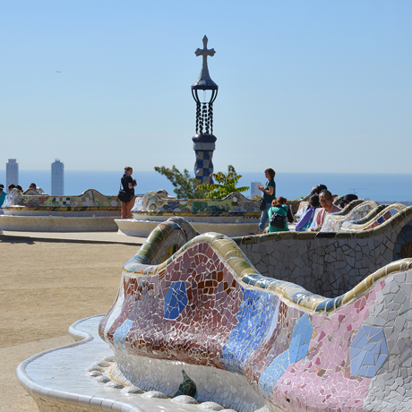 Bancos exteriors Park Guell